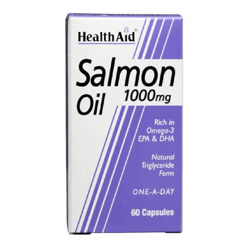 HealthAid Salmon Oil (1000 mg),  60 capsules