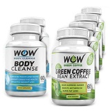 WOW Combo Of Green Coffee And Body Cleanser,  60 Veggie Capsule(s)  Unflavoured