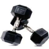 CRUZE Fitness Hexagon Dumbbells Imported,  Black  50 Kg Per Piece