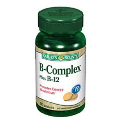 Nature's Bounty B-Complex Plus B-12,  Unflavoured  90 tablet(s)