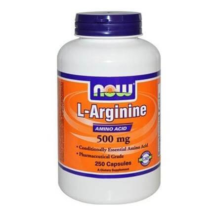 Now L-Arginine (500 mg),  250 capsules