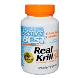 Doctor's Best Real Krill Enhanced With DHA And EPA,  60 Softgels