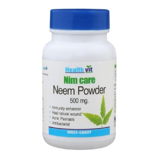 Healthvit Neem Care Neem Powder (400mg),  60 capsules