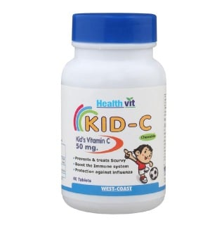 Healthvit Kid- C Kid's Vitamin C Chewable,  Unflavoured  60 tablet(s)