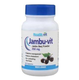 Healthvit Jambu-Vit Jambo Beej powder (250mg),  60 capsules