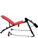 Landmark Ab Trimmer Sit Up Bench,  Red & Black