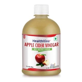 2 - HealthViva Apple Cider Vinegar 100% Natural,  0.5 L  Unflavoured