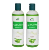 Jain Aloe Vera Shampoo (Pack Of 2),  200 Ml  100% Natural Vitamin E
