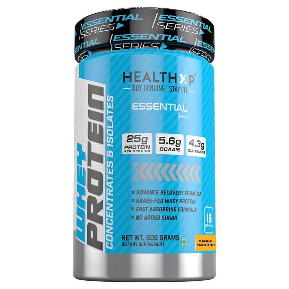HealthXP 100% Whey Protein,  1.1 lb  Mango Smoothie