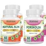 Morpheme Remedies Natural Slim + Forskolin (Pack Of 2),  120 Veggie Capsule(s)  Unflavoured