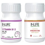 INLIFE Vitamin B12 D3 Combo,  Unflavoured  2 Piece(s)/Pack