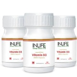 INLIFE Vitamin D3 (2000 IU) Pack Of 3,  60 Capsules