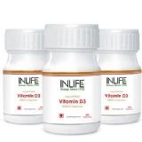 INLIFE Vitamin D3 (2000 IU) Pack Of 3,  60 Capsules