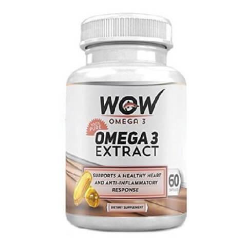 WOW Omega 3,  60 capsules