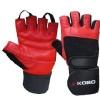 KOBO Gym Gloves (WTG-02),  Red & Black  Large