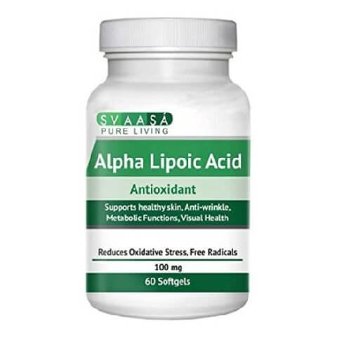 Svaasa Alpha Lipoic Acid,  60 softgels