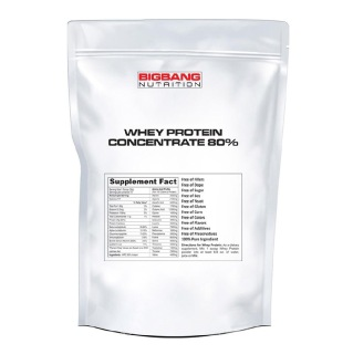 BigBang Nutrition Whey Protein Concentrate 80%,  5 Lb  Unflavoured