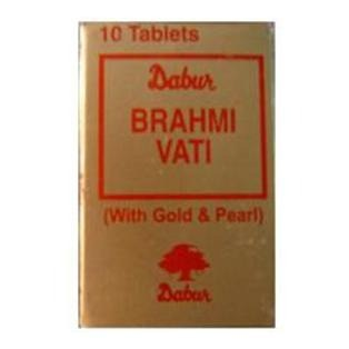 Dabur Brahmi Vati with Gold & Pearl,  10 tablet(s)