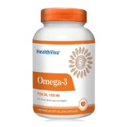 HealthViva Omega 3 Supplement,  60 softgels