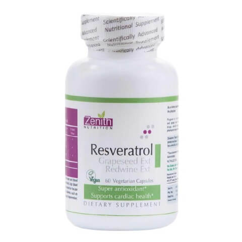 Zenith Nutrition Resveratrol Grapeseed Ext Red Wine Extract,  60 veggie capsule(s)