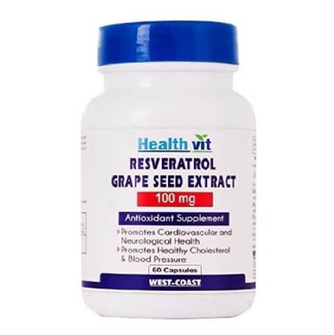 Healthvit Resveratrol Grape Seed Extract (100 mg),  60 capsules