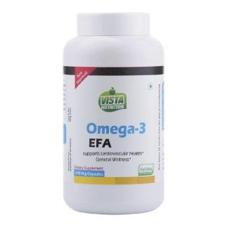 Vista Nutrition Omega-3 EFA,  240 capsules