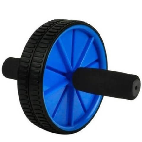 KOBO Ab Wheel Exerciser with Mat (AC-1),  Black & Blue  400 g