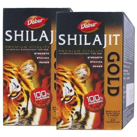 Dabur Shilajit Gold - Pack of 2 20 capsules