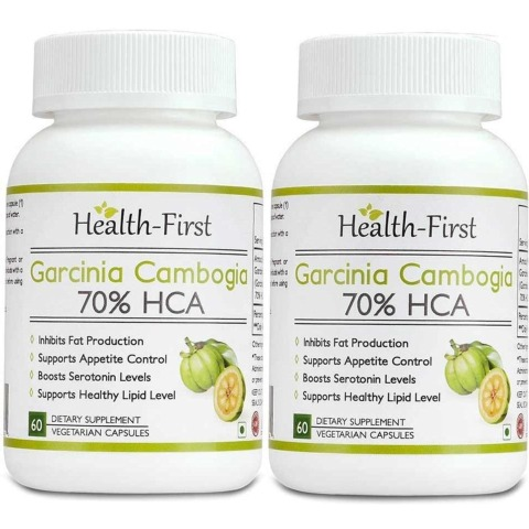 Health first Garcinia Cambogia 70% HCA - Pack of 2, 60 veggie capsule(s)