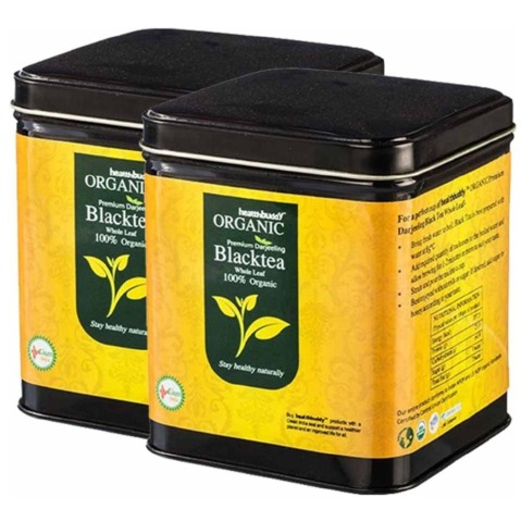 Healthbuddy Organic Premium Darjeeling Black Tea,  Unflavoured  0.1 kg  - Pack of 2