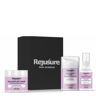 1 - Rejusure Salicylic Acid Acne Control (Moisturizer 50ml + Face Serum 30ml + 50 Cleansing Pads,  3 Piece(s)/Pack  for Normal/Oily Skin