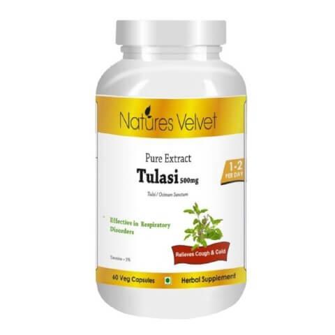 Natures Velvet Tulasi Pure Extract (500 mg),  60 veggie capsule(s)