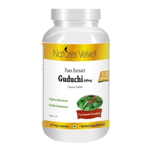 Natures Velvet Guduchi Pure Extract (500 mg),  60 capsules