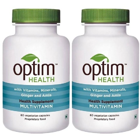 OptimHealth Multivitamin Health Supplement,  Unflavoured  60 capsules  - Pack of 2