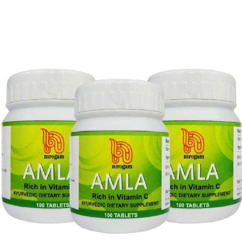 Nirogam Amla,  100 tablet(s)  - Pack of 3