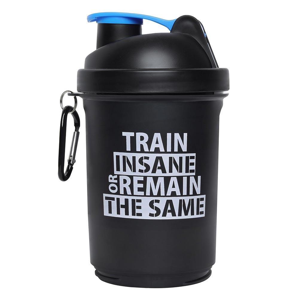 4 - GHC 3-Compartment Shaker Bottle,  Blue & Black  600 ml