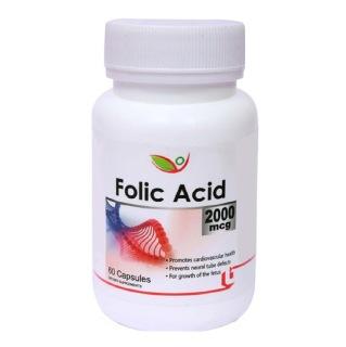 Biotrex Folic Acid (2000 mcg),  Unflavoured  60 capsules