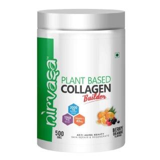 1 - Nirvasa Plant Based Collagen Builder,  500 g  Berry Orange