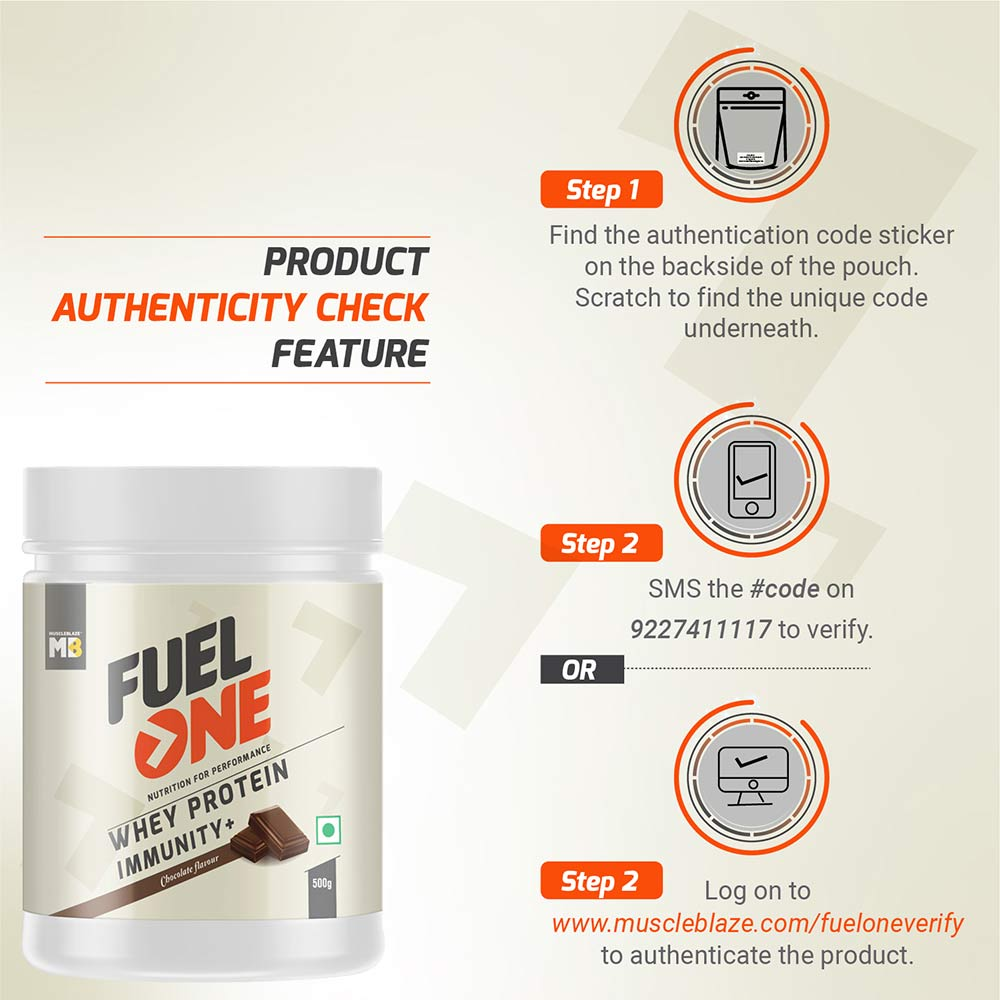6 - MB Fuel One Whey Protein Immunity+,  1.1 lb  Chocolate