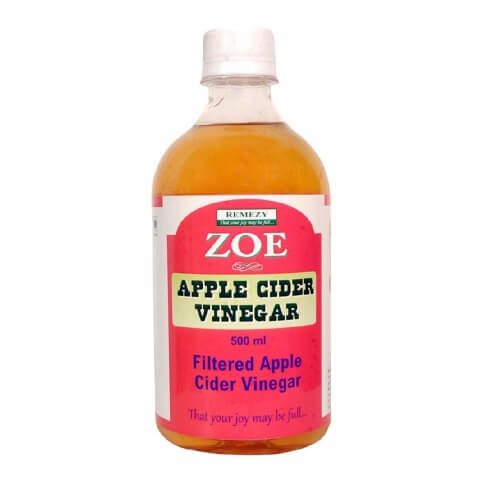 Zoe Apple Cider Vinegar Filtered,  0.5 L  Unflavoured