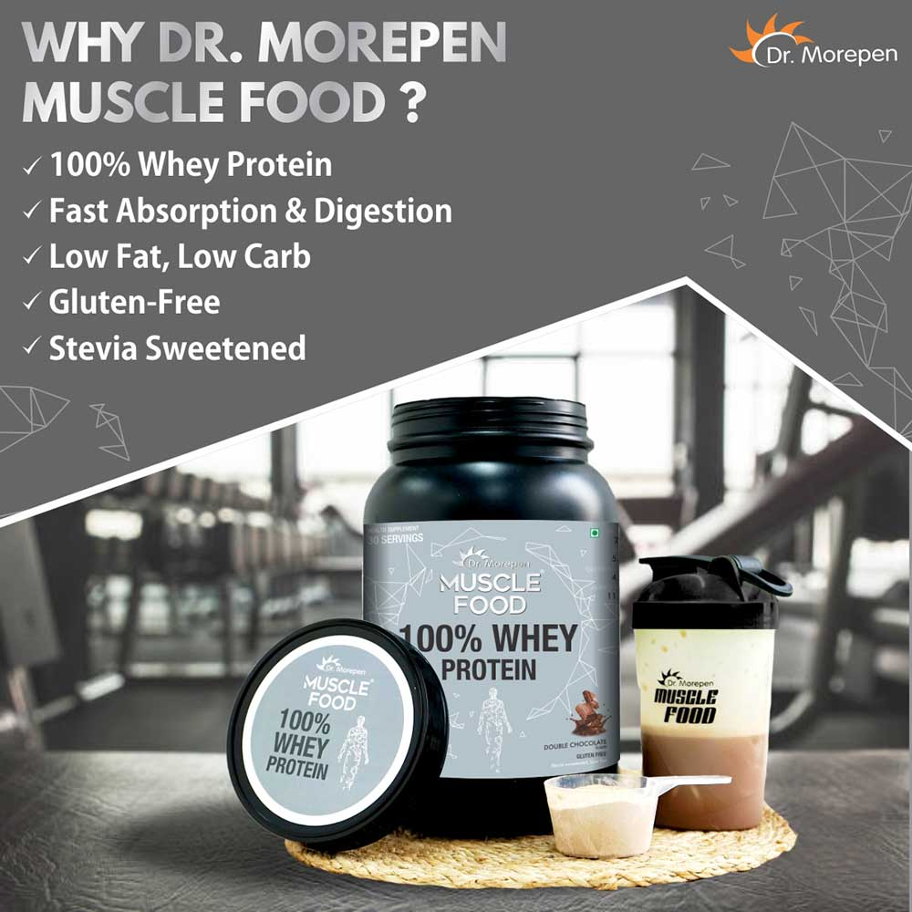 4 - Dr. Morepen Slim Shake 500g, Marine Collagen Skin Protein 240g, Muscle Food 100% Whey Protein 2.2lb Combo,  3 Piece(s)/Pack  Shake-Strawberry Fusion, Whey Protein-Double Chocolate