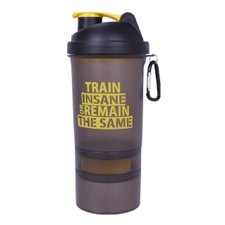 1 - GHC 3-Compartment Shaker Bottle,  Yellow  600 ml