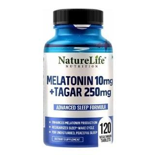 1 - NatureLife Nutrition Melatonin 10mg+Tagar 250mg,  120 tablet(s)