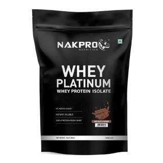1 - Nakpro Whey Platinum Whey Protein Isolate,  2.2 lb  Chocolate