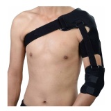 B Fit USA Shoulder Support With Strap,  Black  Free Size