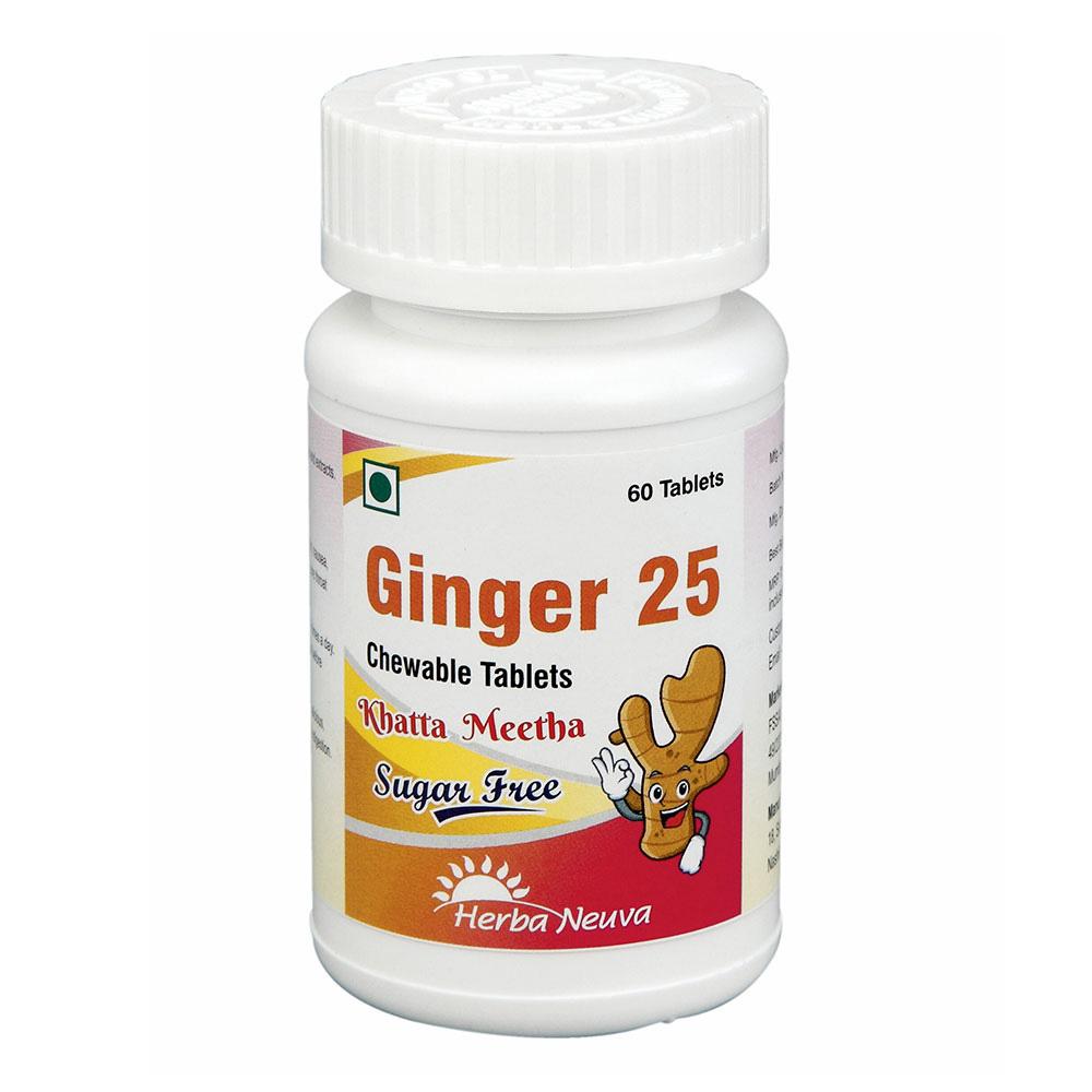 1 - Herba Neuva Ginger 25,  60 tablet(s)