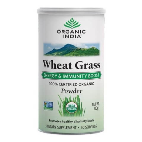 Organic India Wheat Grass Powder,  Unflavoured  100 g