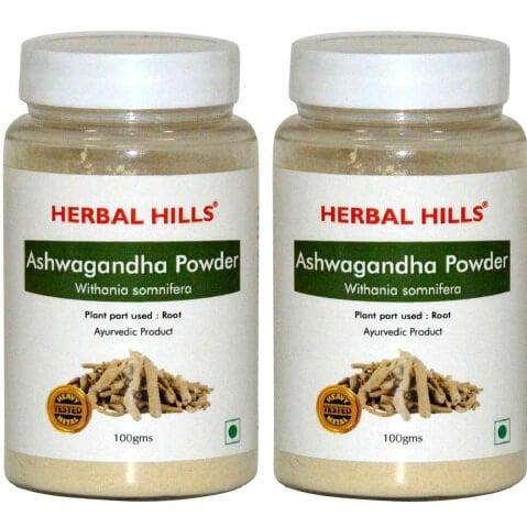 Herbal Hills Ashwagandha Powder (Pack of 2),  0.1 kg