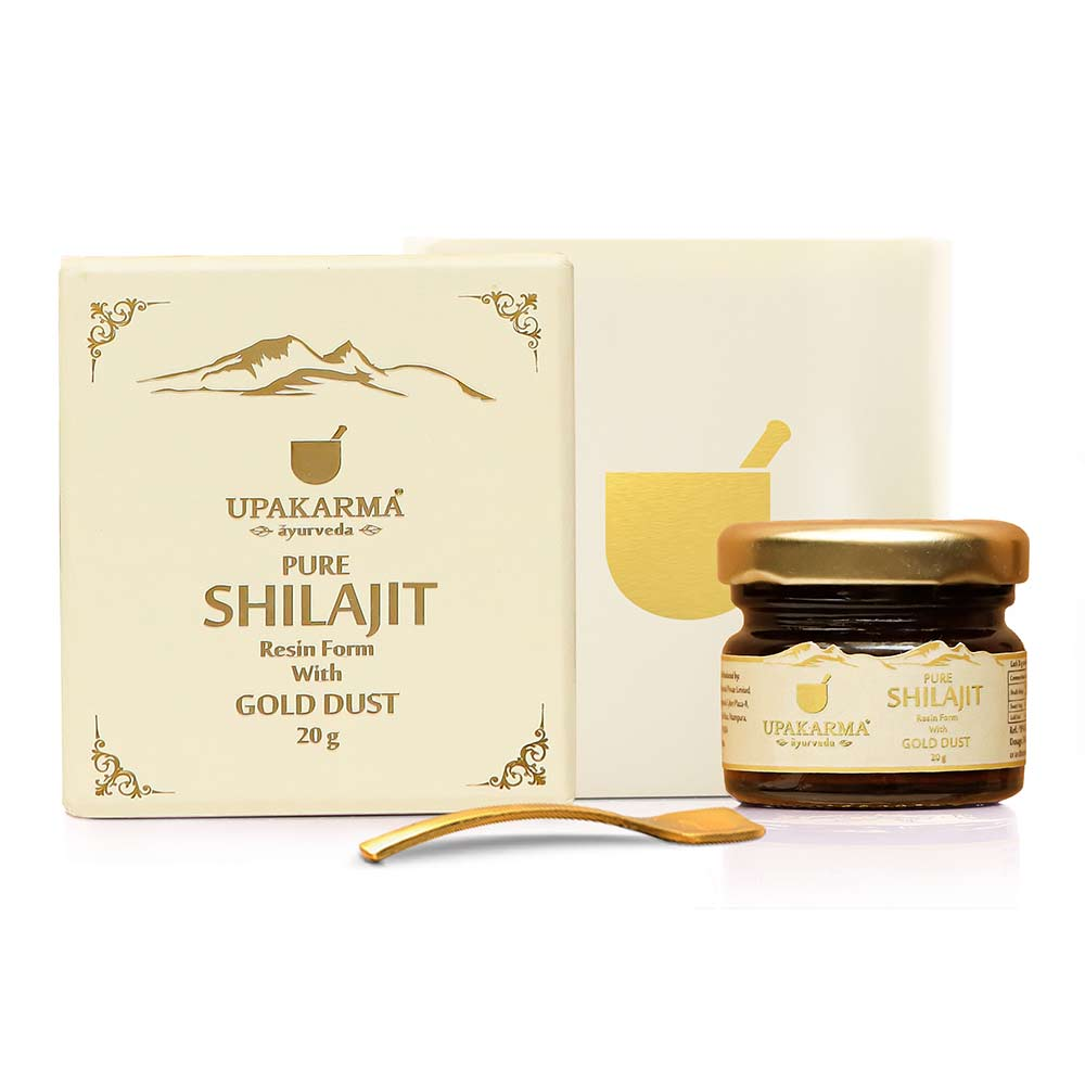 1 - Upakarma Ayurveda Pure Shilajit Resin Form with Gold Dust,  20 g