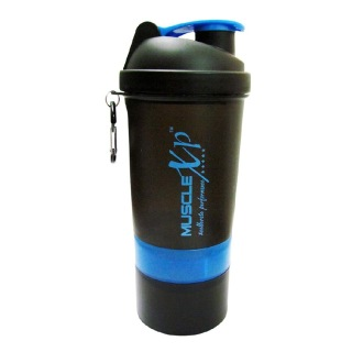 MuscleXP Smart Advanced Gym Shaker,  Design 8 Black & Blue  500 ml